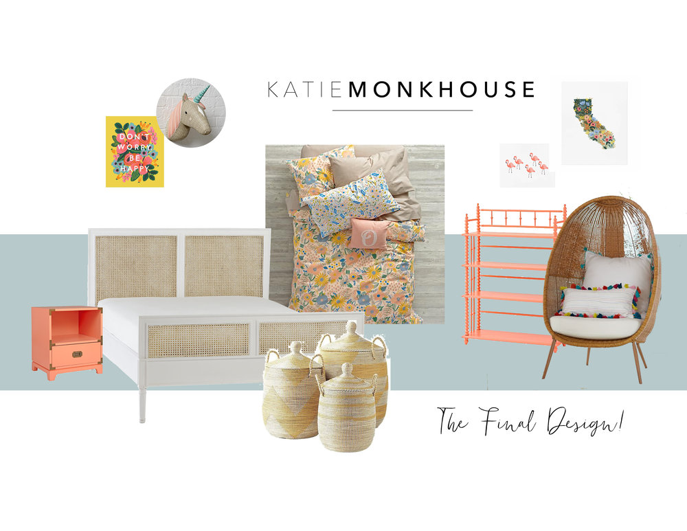 Modern Girls Bedrooms by Katie Monkhouse