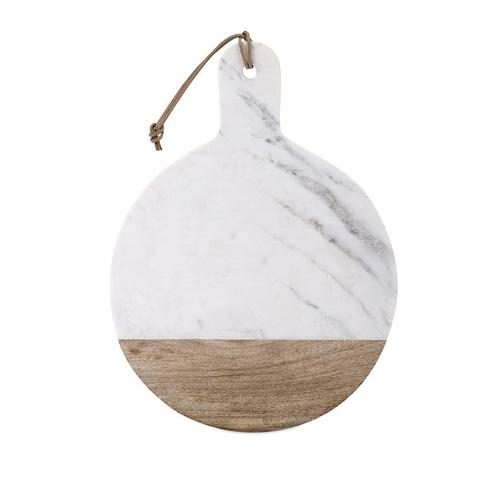 Love this luxe marble and wood cheese board $58