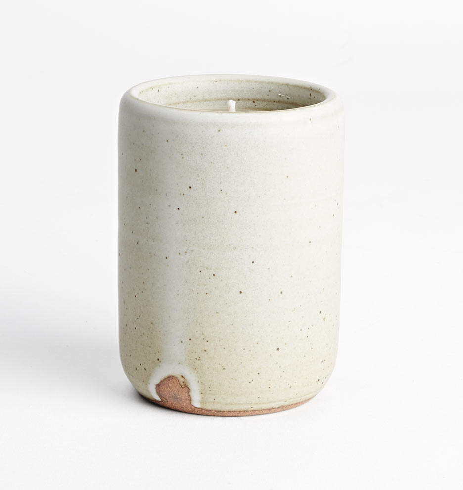 This stoneware candle is so gorgeous! $44
