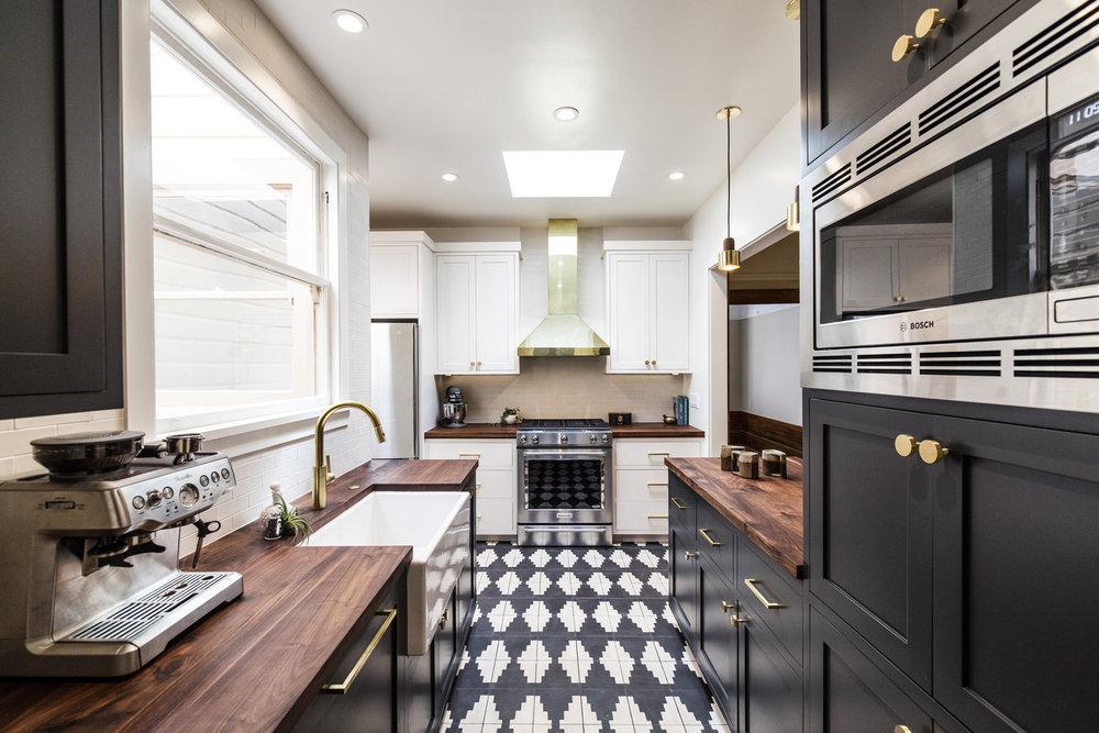 Zuni Zebra tile shown in one of my favorite kitchen designs by  K Interiors