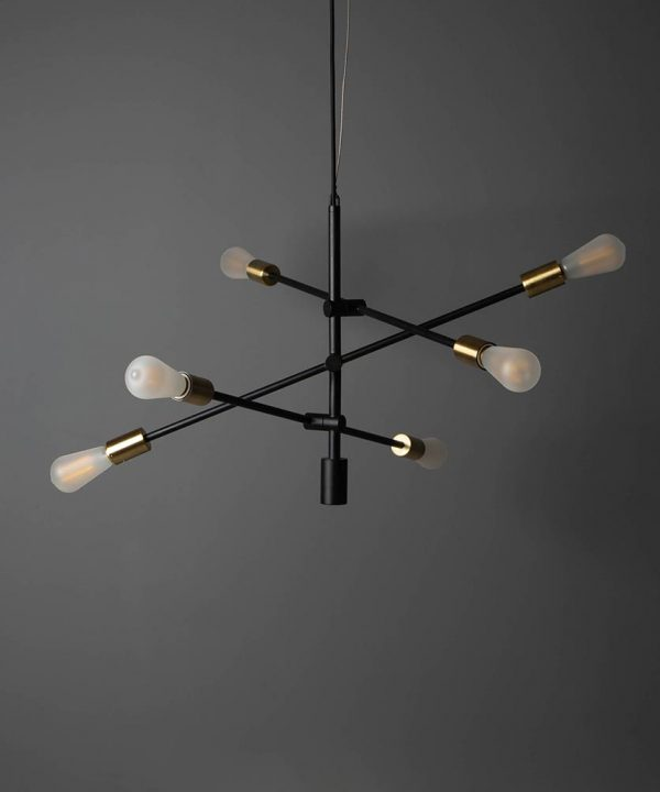 Mid-century chandelier, love.
