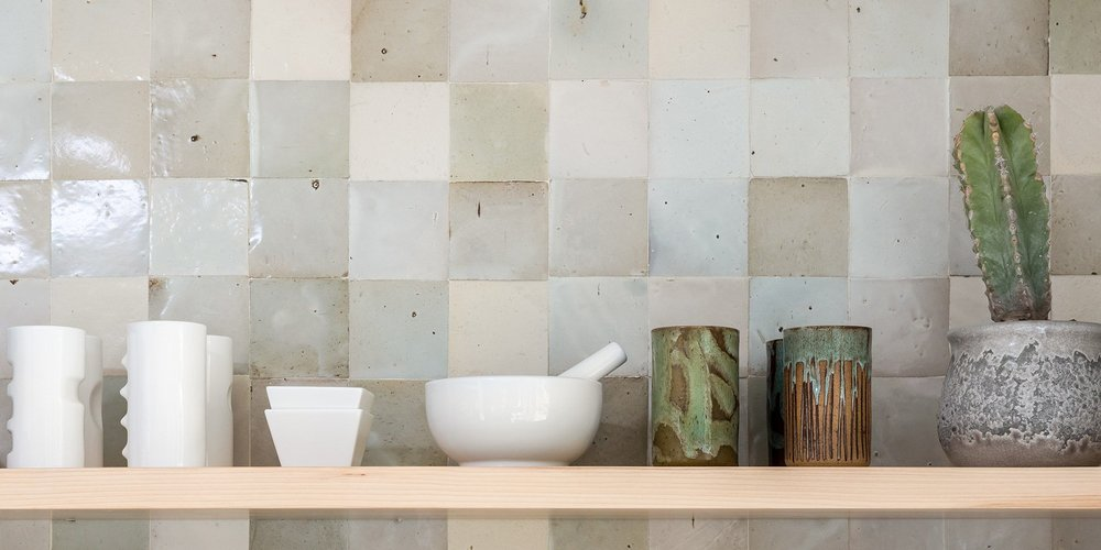 Backsplash goals.  Tiles and image by Clé .
