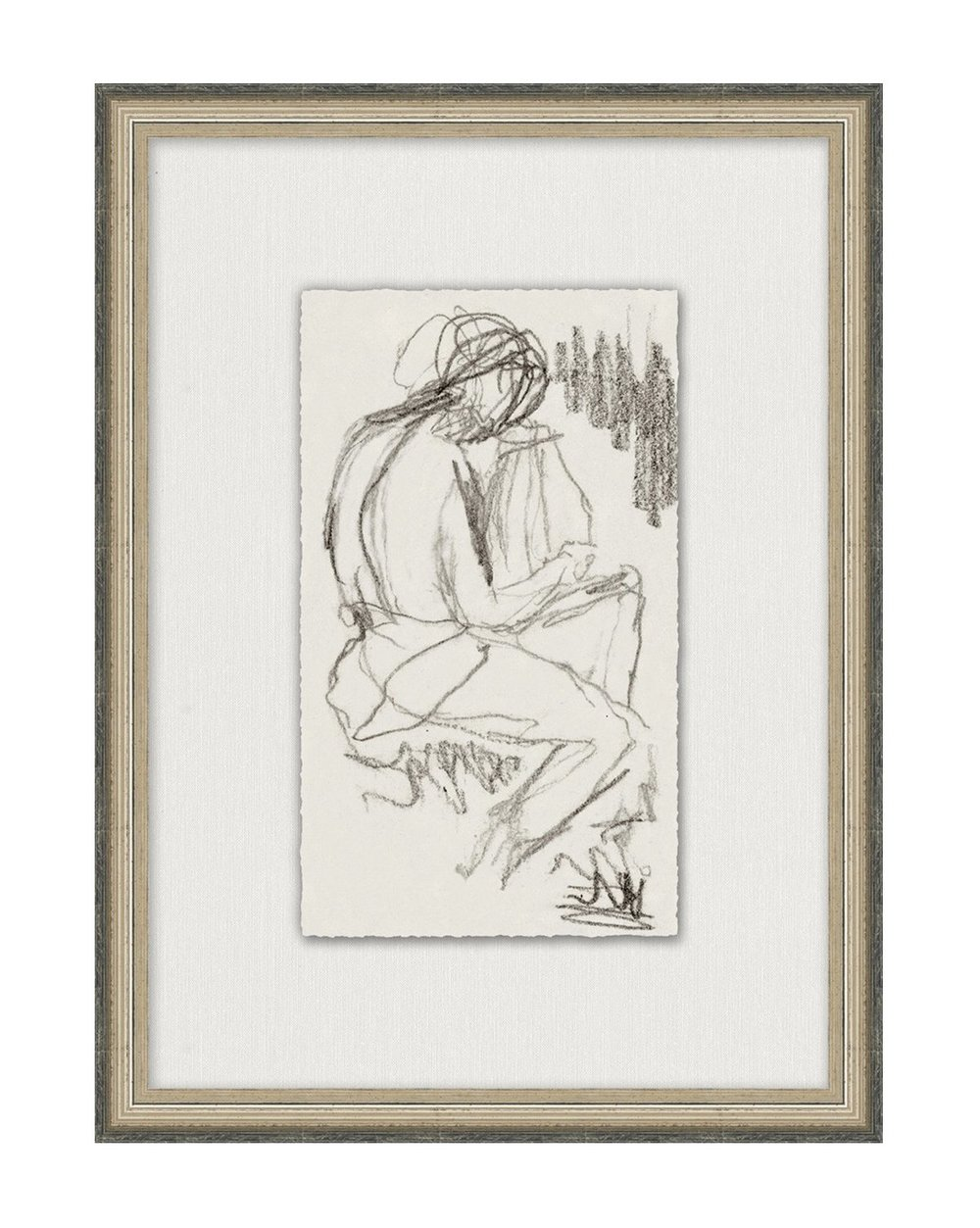 Framed figure sketch from McGee&Co .