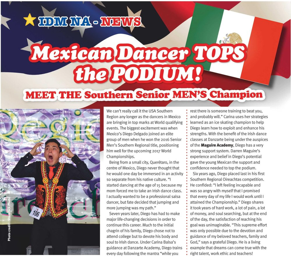 ¡Aparecimos en The Irish Dancing Magazine!