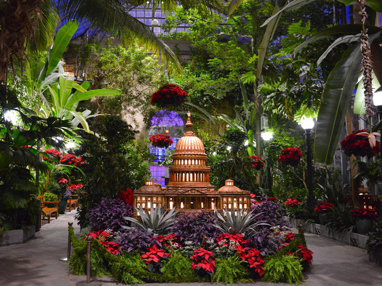 Season's Greenings: National Parks and Historic Places at The U.S. Botanic Garden Conservator