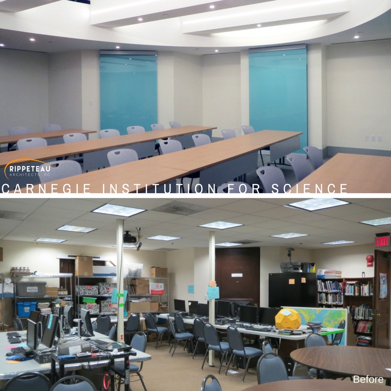 A Before (bottom) and After (top) of the classroom