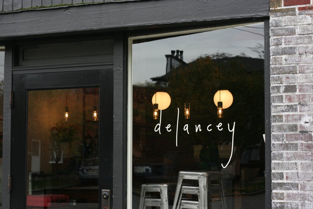 Custom dishware for Delancey