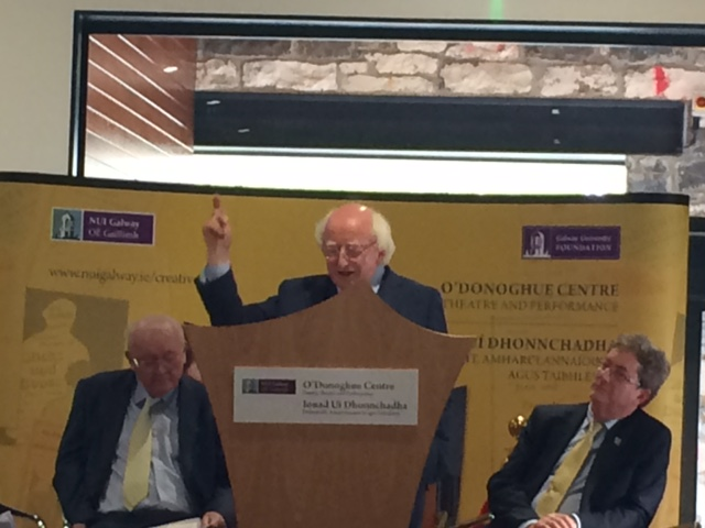 President Michael D. Higgins at NUI Galway.
