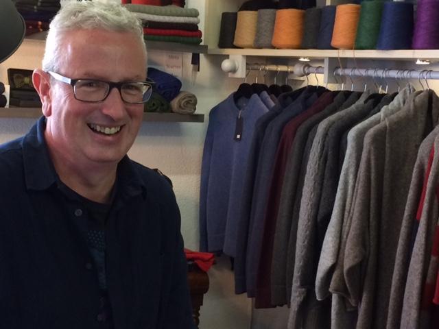 Edmund McNulty, knit designer in Drogheda.