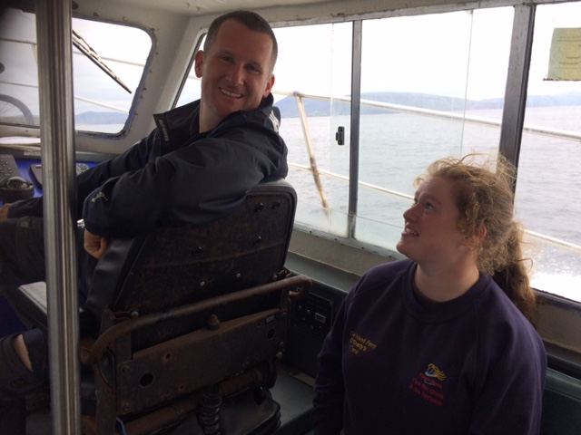 Brian O'Grady and his daughter working the Clare Island ferries.