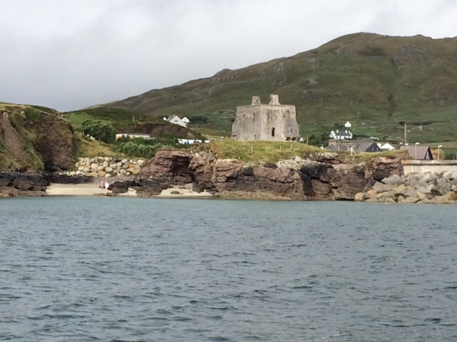 Granuaile's castle on Clare Island, overlooking Clew Bay