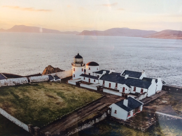 Clare Island Lighthouse now a country manor house where you can stay.