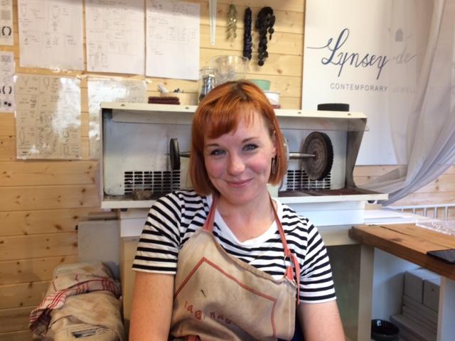 Lynsey de Burca in her workshop in Moycullen.