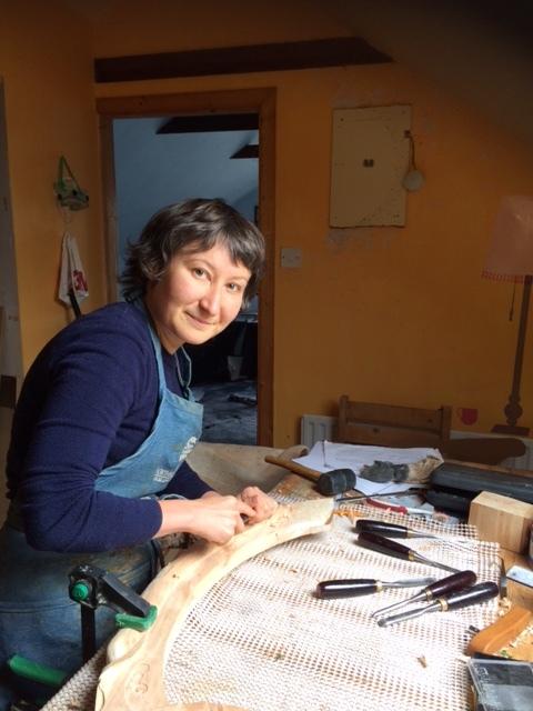 Natalie in her workshop in Oughterard.
