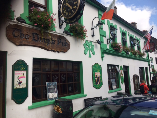 The Dingle Pub. You can't miss it!