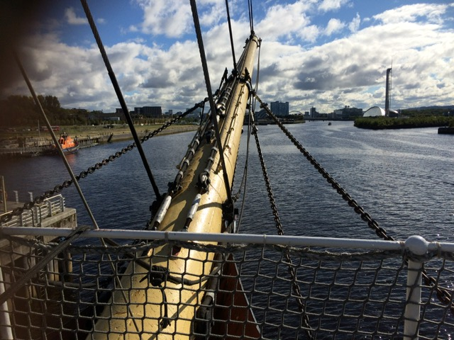 View from the bow of the Glenlee.