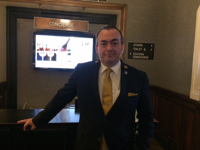 Alan McDougall, Head Concierge, Grand Central Hotel, Glasgow.