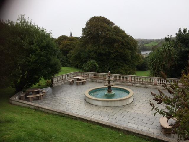 The castle fountain