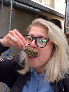 Gosia, with Galway Food Tours and the freshest of oysters around!