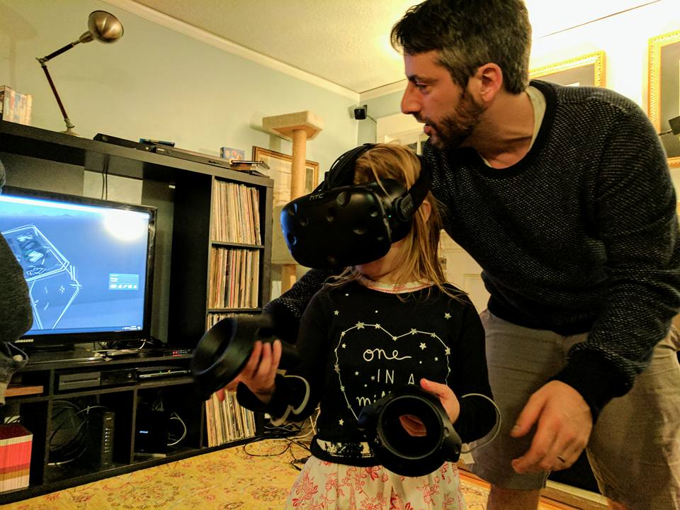 Showing off TiltBrush to a friend's daughter