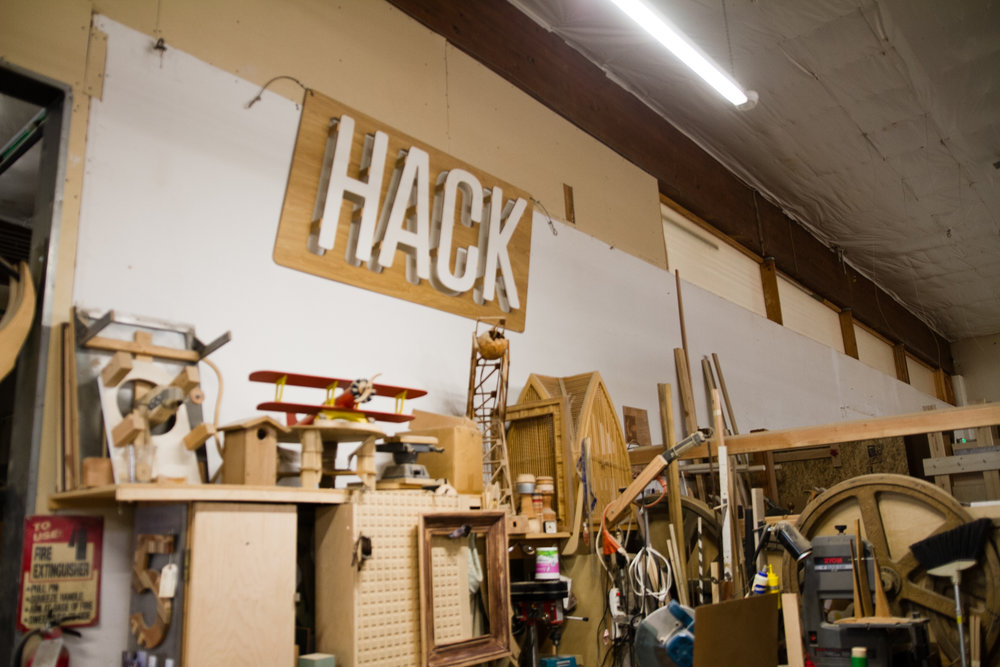 ADX's awesome woodworking space