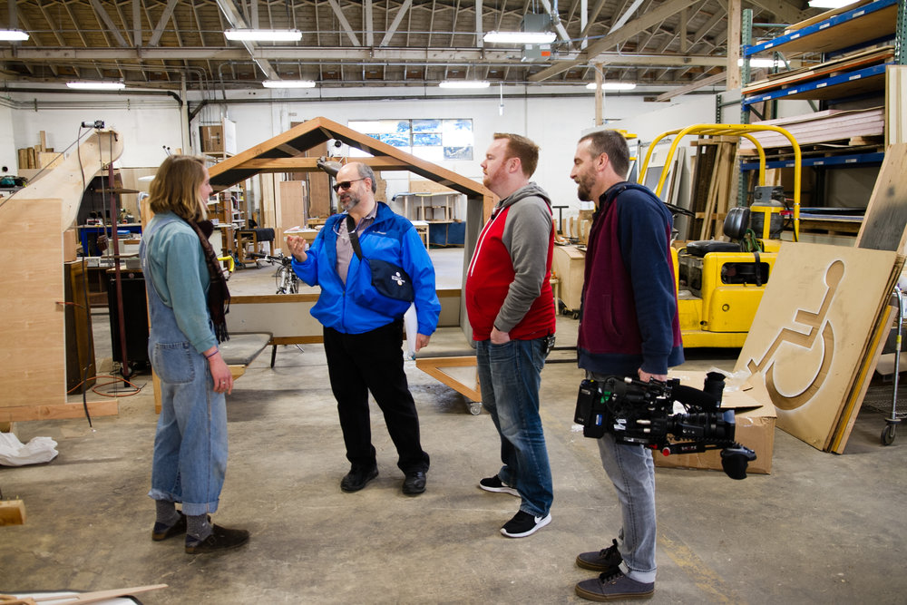 Dave, owner of Portland Walking Tours, gives us a tour of the ADX Pro space, which opened last Friday