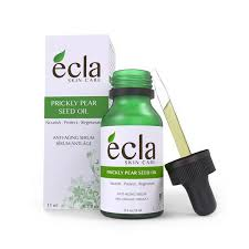 Ecla Prickly Pear Seed Oil - Just one ingredient: 100% Pure Certified USDA Organic Prickly Pear seed oil, Virgin Cold pressed, unrefined with no chemicals or fillers. ($26)