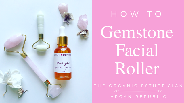 How To Rose Quartz Facial Roller The Organic Esthetician