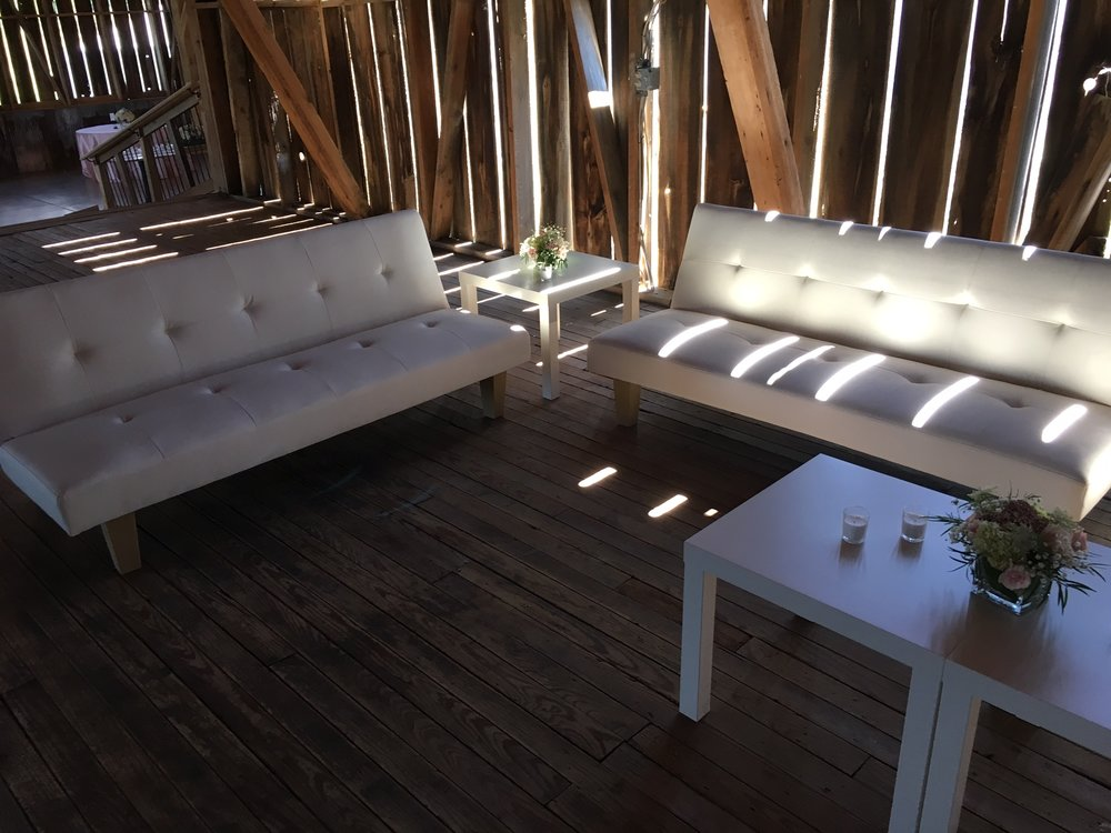 LEATHER COUCHES (WHITE, BLACK, OR BROWN)