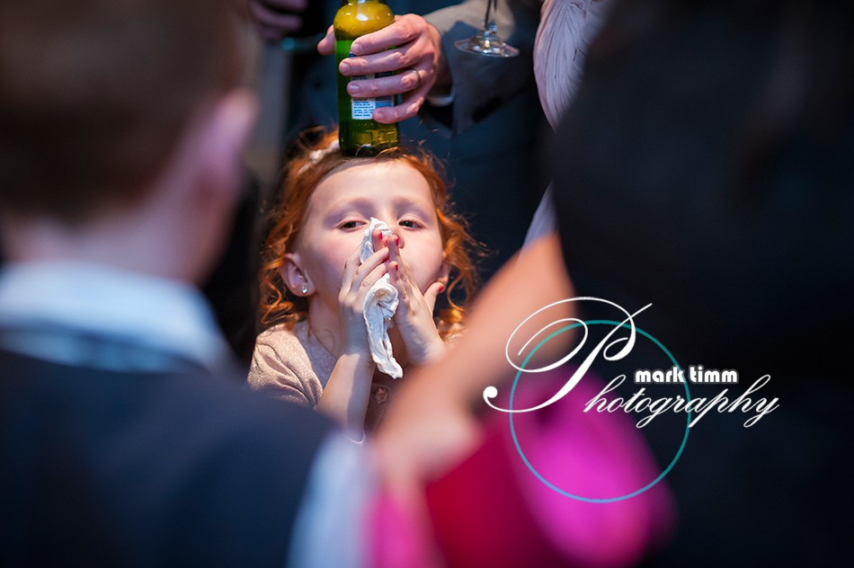 This is why children should always be allowed at weddings. Be sure to bring one for each drink.