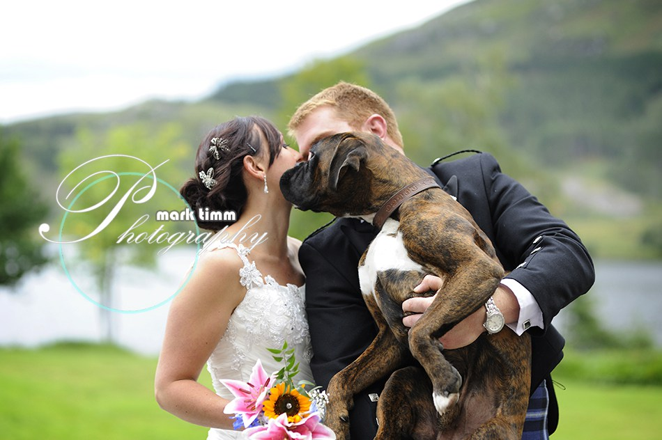 And give the bride a wee kiss……..er, wait a minute……