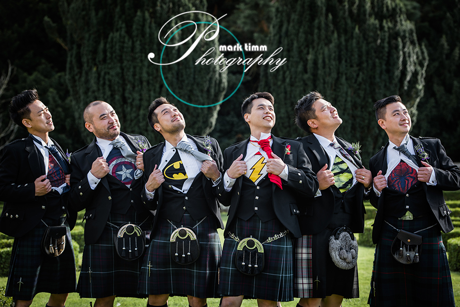 superhero wedding photographs scotland