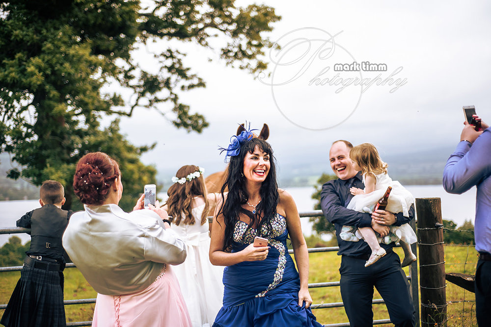 fun scottish wedding photos