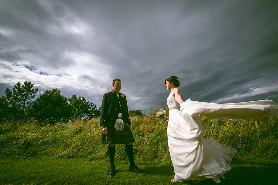 dramatic scottish wedding