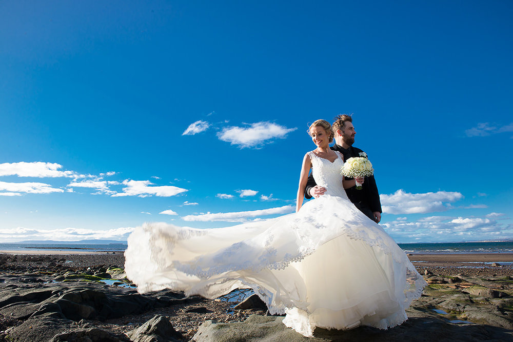 beach wedding scotland