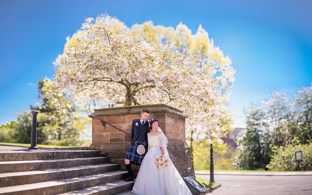 glasgow university wedding photography