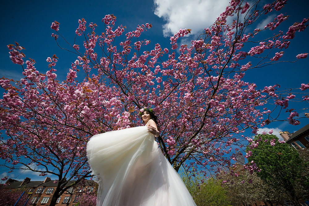 scottish blossom wedding