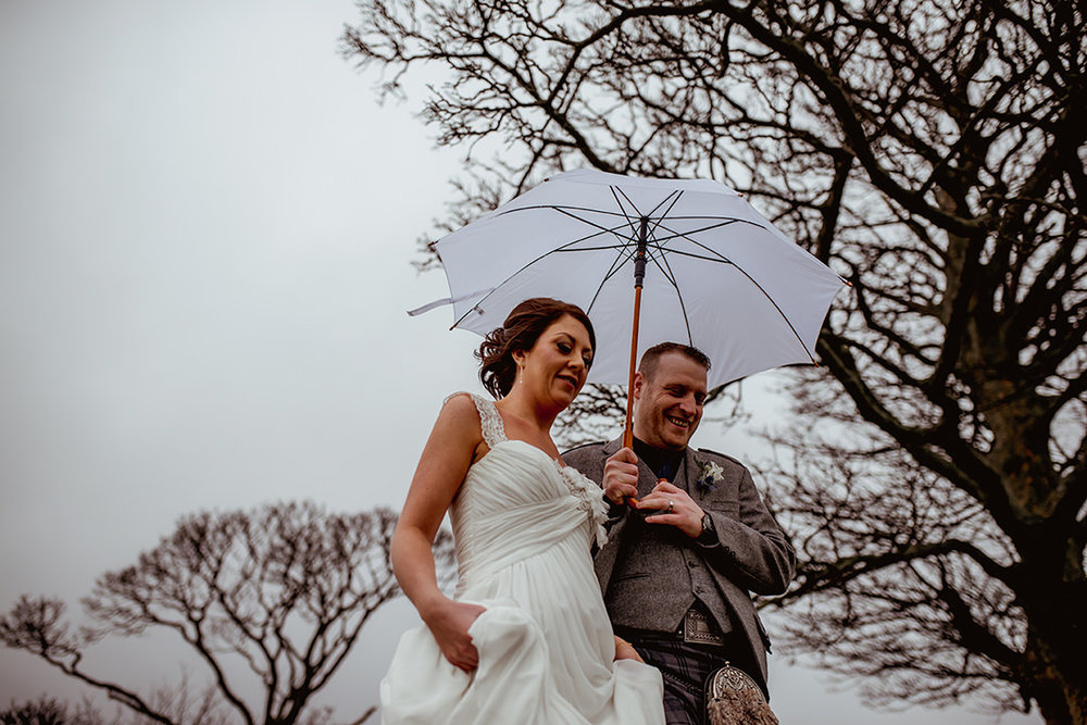 atmospheric wedding photography glasgow