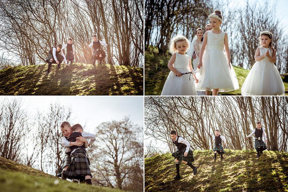 glenskirlie children at wedding photographer