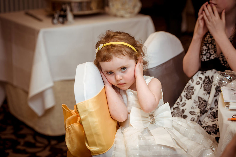funnny wedding photography scotland flowergirl humour
