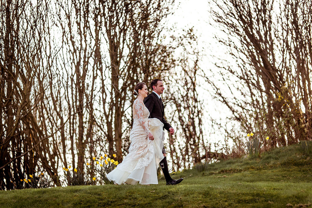 natural vintage wedding style scotland photographer