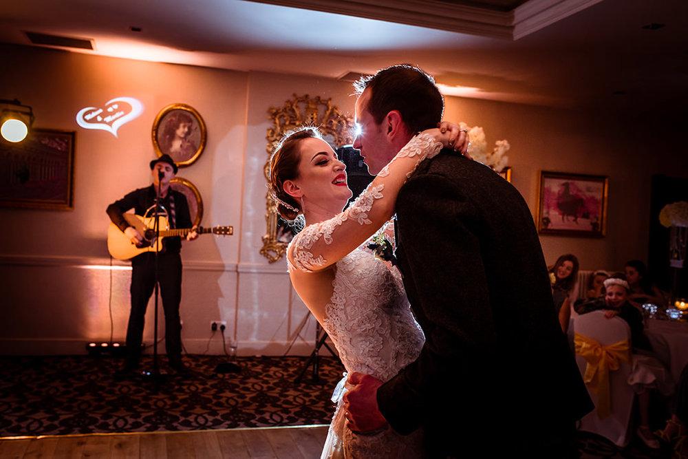 happy wedding photographs glenskirlie dancing