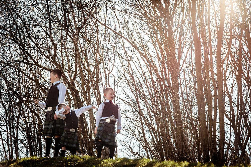 fun best wedding photographs glenskirlie sunflare scotland stirling