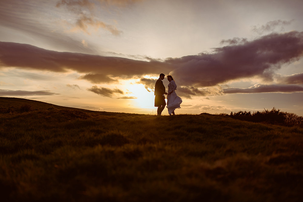 scottish wilderness wedding photography sunset glasgow