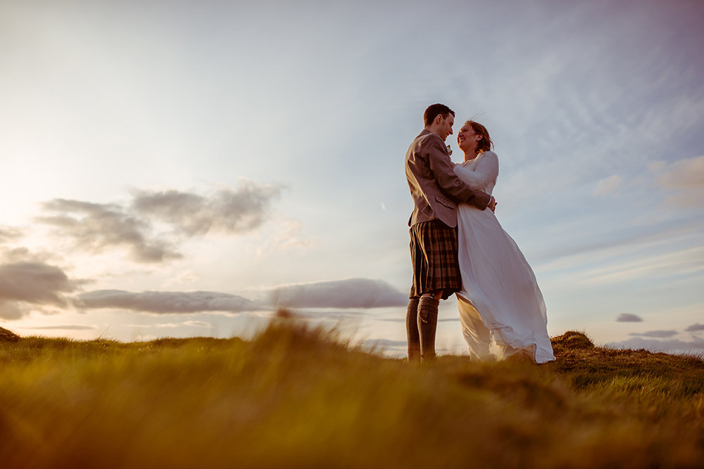 amazing alternative wedding photography sunset scotland glasgow