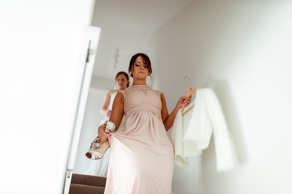 bridesmaid wedding photography scotland glasgow