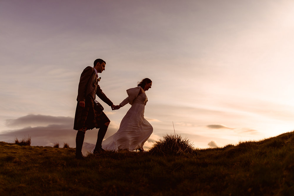 romantic wedding photography scotland outdoor scenery the vu