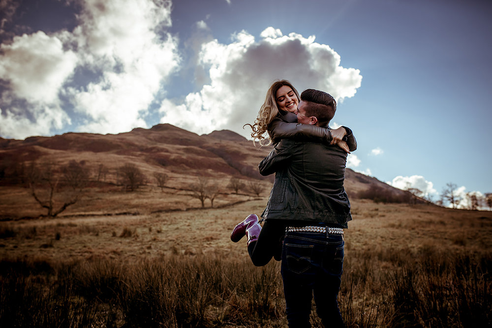 fun pre wedding photography scotland highland destination pics