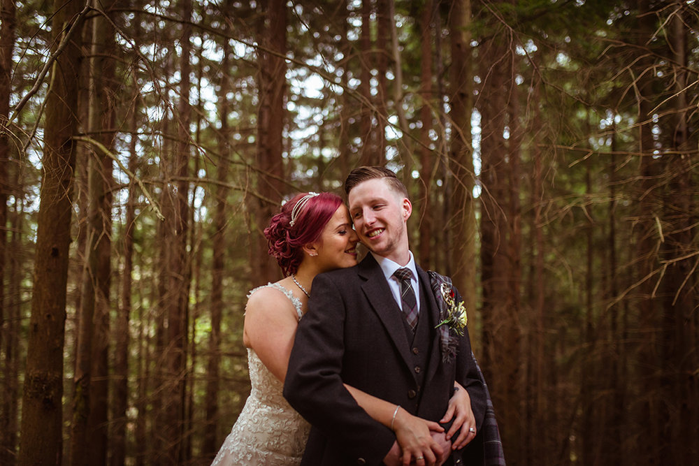 scottish woodland wedding ceremony chatelherault
