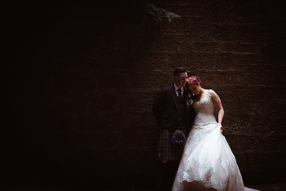 urban natural wedding photography glasgow scotland